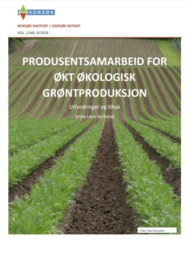 Norsøkrapport Produsentsamarbeid