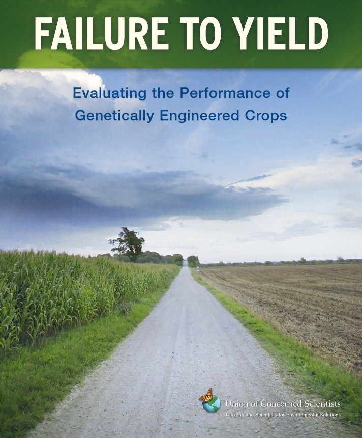 Failure to Yield - Evaluating the Performance of Genetically Engineered Crops (2009) som evaluerer i avlingseffekten av GMO-vekster