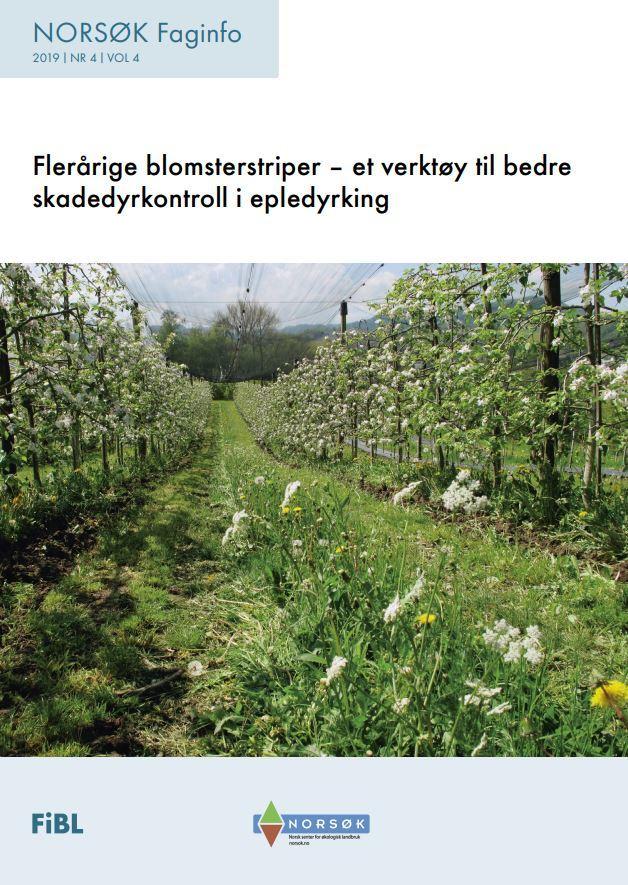 Fleråring Blomsterstriper I Epledyrking