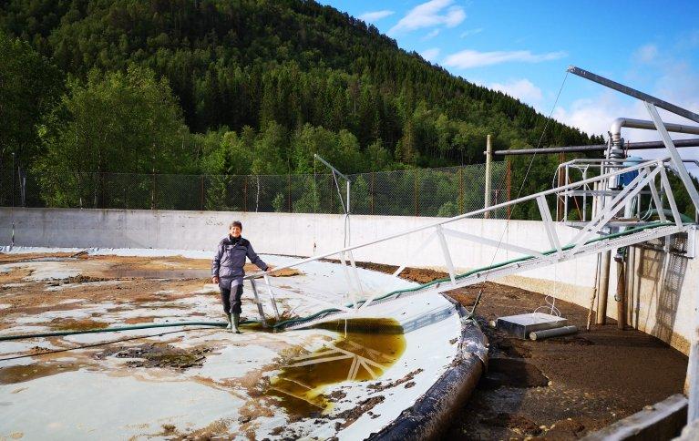 KLIMAGASSUTSLIPP TEMPERATURAVHENGIG: Utslipp av klimagasser fra norske gjødsellager er temperaturavhengig.