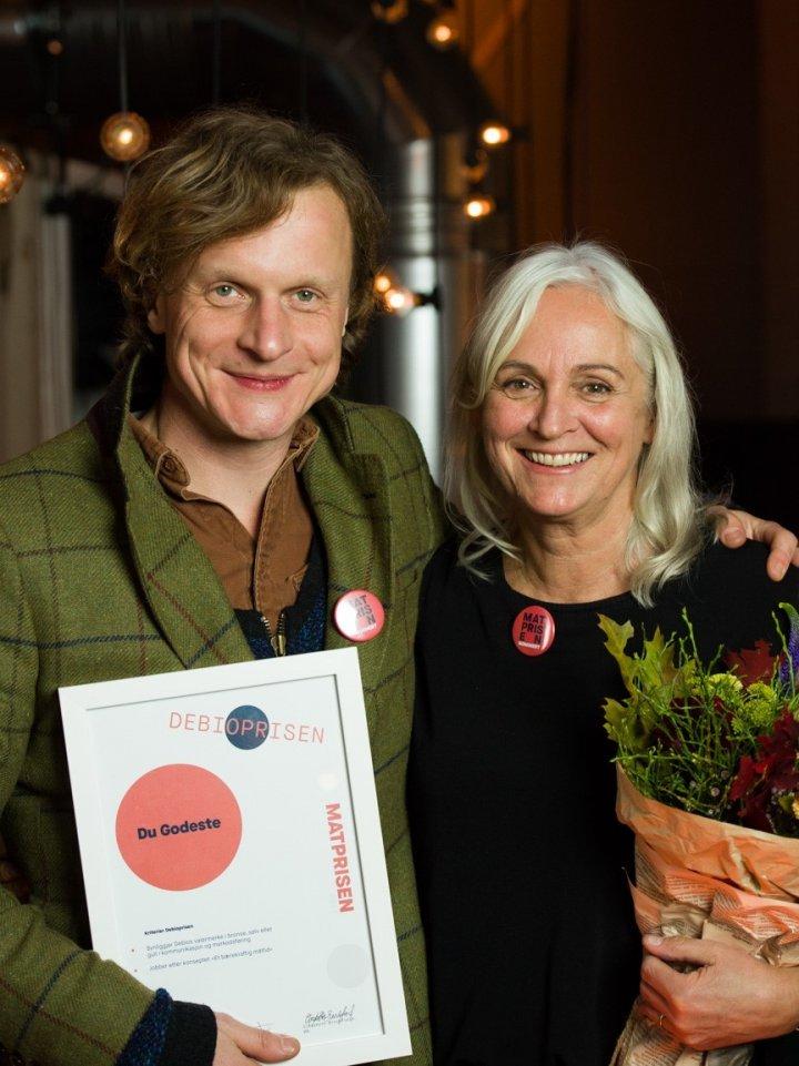 Debioprisen: David Bratlie og Astrid Roppen. Foto: Joachim Sollerman