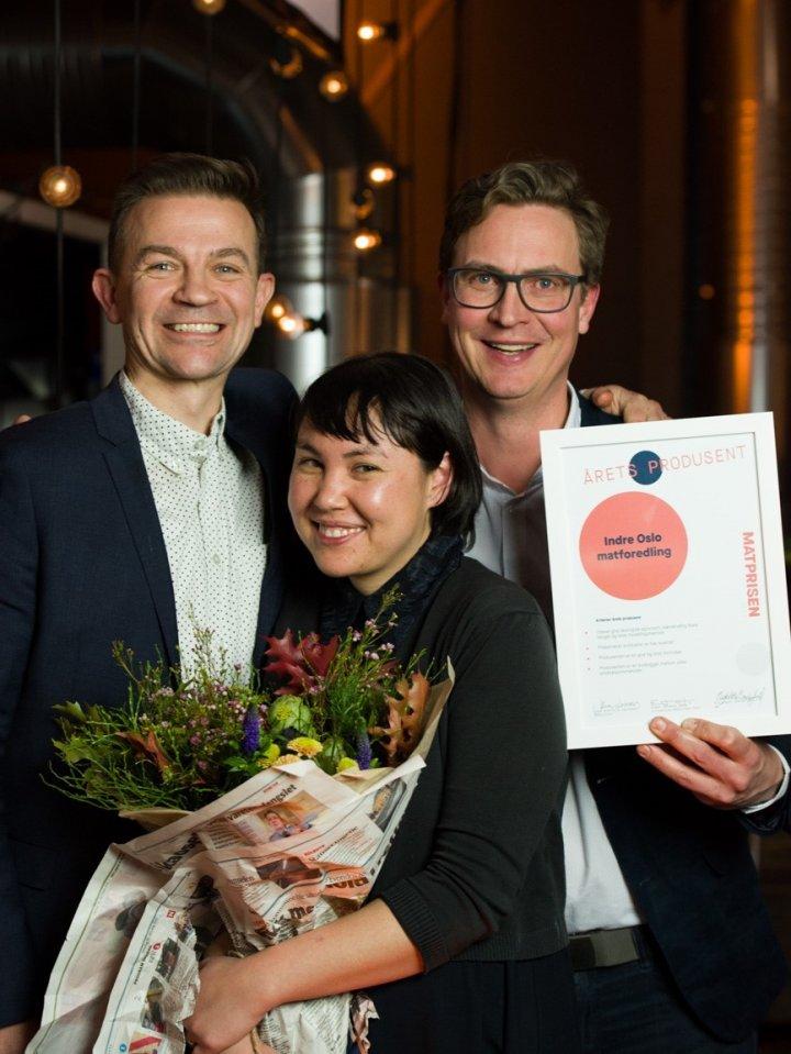 Årets Produsent: Timon Botez, Magnus Thorvik og Jessica Williams . Foto: Joachim Sollerman