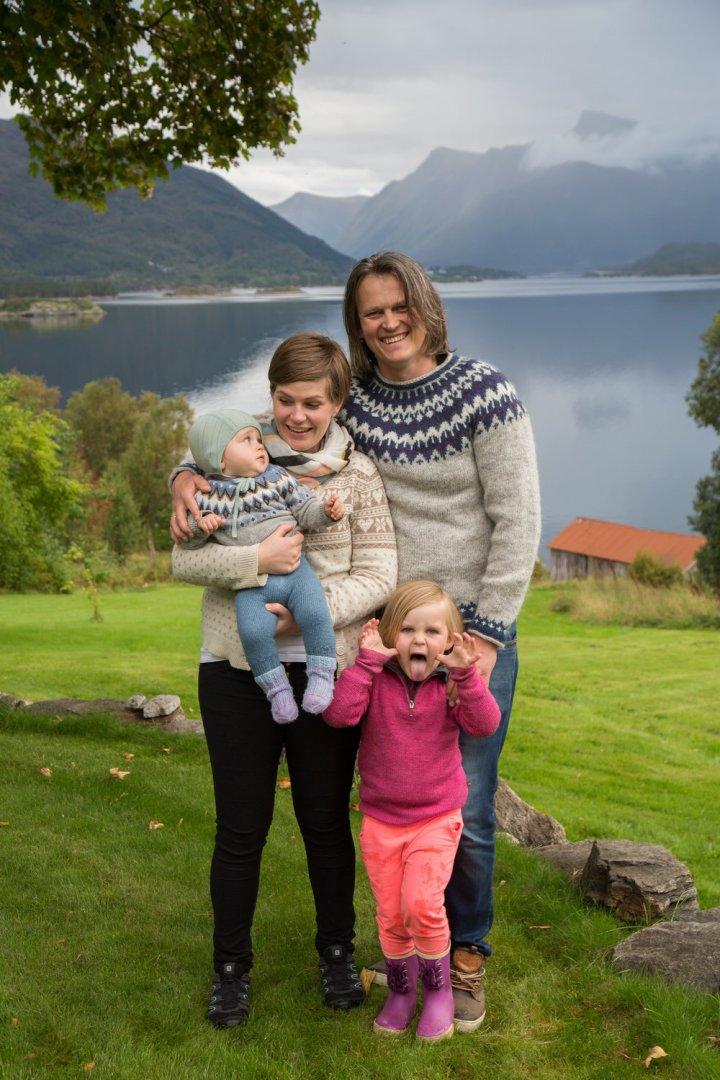 Familien Havåg i 2016, det året prosjektet ble gjennomført. Foto: Siv-Elin Nærø