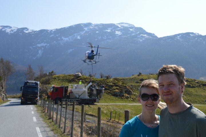Drivere: Asle Gilje og Eva Campbell, driv gård på Gilja i Gjesdal Kommune. Foto: Asbjørn Ramsli