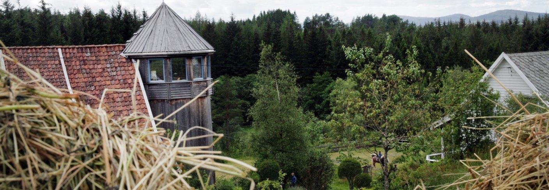 Siloen på Søre Skogen inneheld kjøkken, soverom og «tenketårn». Foto: Anita Land