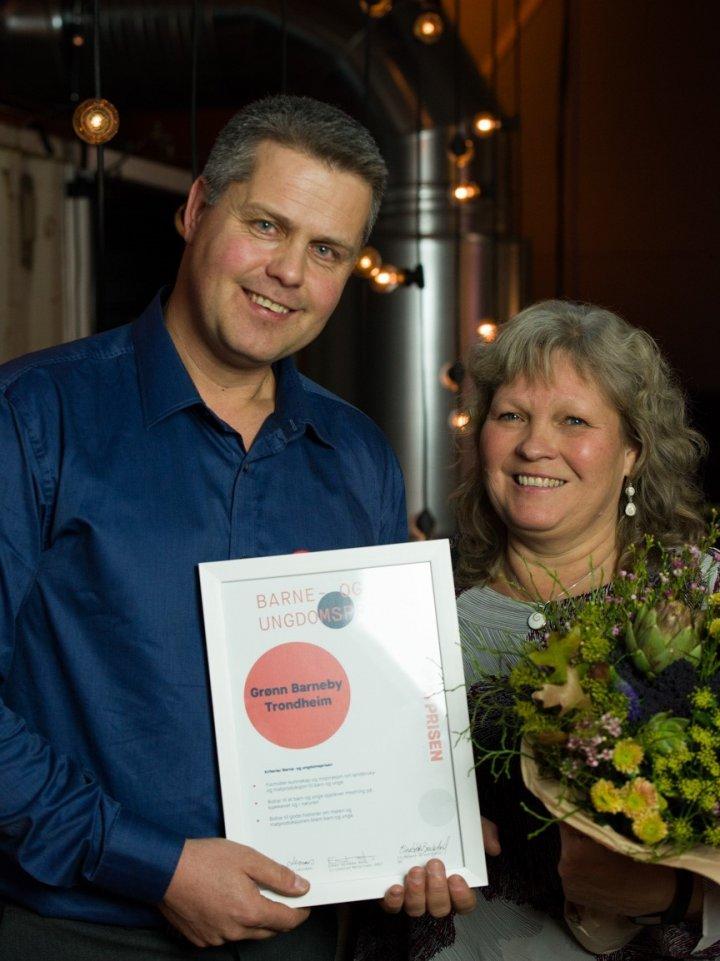 Bjørn Arild Silset og Anne Grethe Glørstad fra Grønn barneby i Trondheim. . Foto: Joachim Sollerman