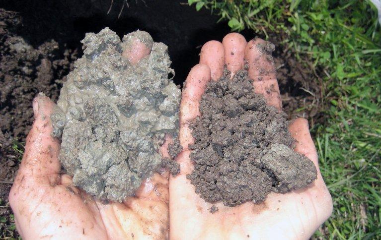 Vassmetting over tid i to jordlag av samme profil. Foto:  Mona Ringnes og Reidun Pommeresche
