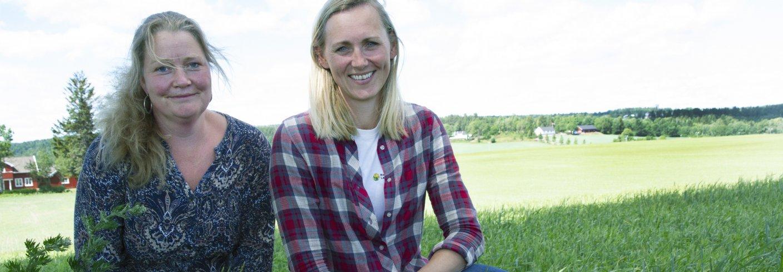 Landbruksrådgiverne Hege Sundet til venstre og Silja Valand til høyre. Foto: Anita Land